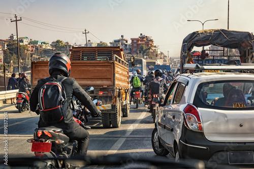 Wall Murals Nepal Kathmandu Traffic Jam, Nepal