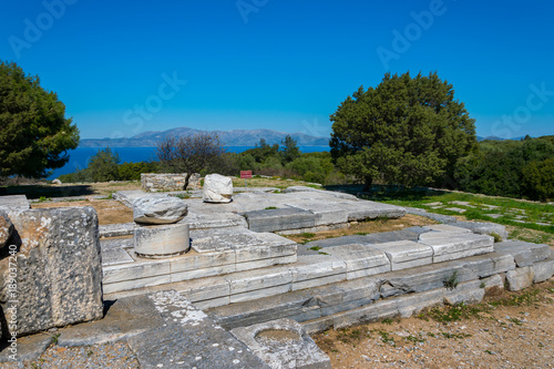 Photo  Sancturay of Nemesis at Rhamnous in north- east Attica in Greece