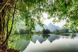 Scenic view of the Yulong River at Yangshuo, Guilin, China