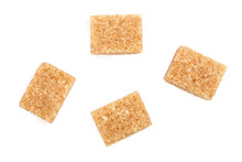 Brown Sugar Cubes Isolated On ...