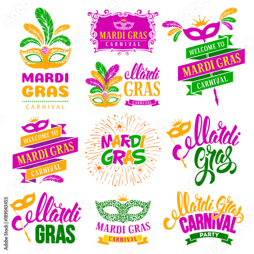 Mardi Gras Wall mural