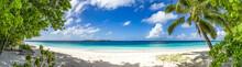 Großes Panorama Von Sand, Mee...