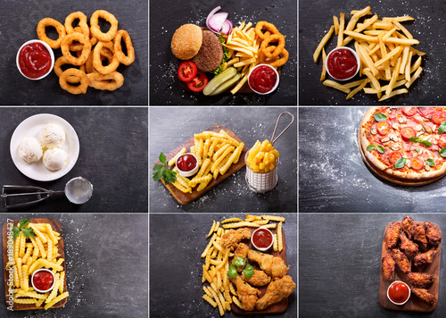collage of various fast food products © Nitr