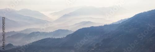 Wall Murals Nepal Foggy Landscape, Nagarkot, Nepal