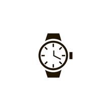 Watch Icon. Flat Design