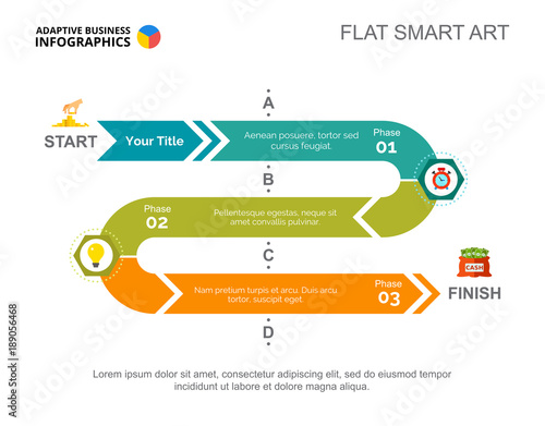 Three Phases Startup Slide Template Wallpaper Mural