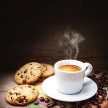 Espresso With Cookies And Coff...