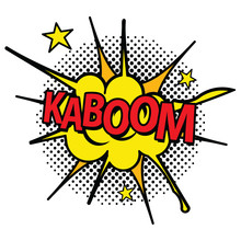 Pop Art Comic Icon Word Koboom