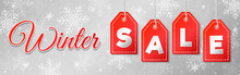 Winter Sale - Panoramic Header. Vector.