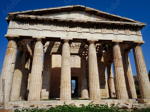 Photo  Front View of Temple of Hephaestus - Athens, Greece