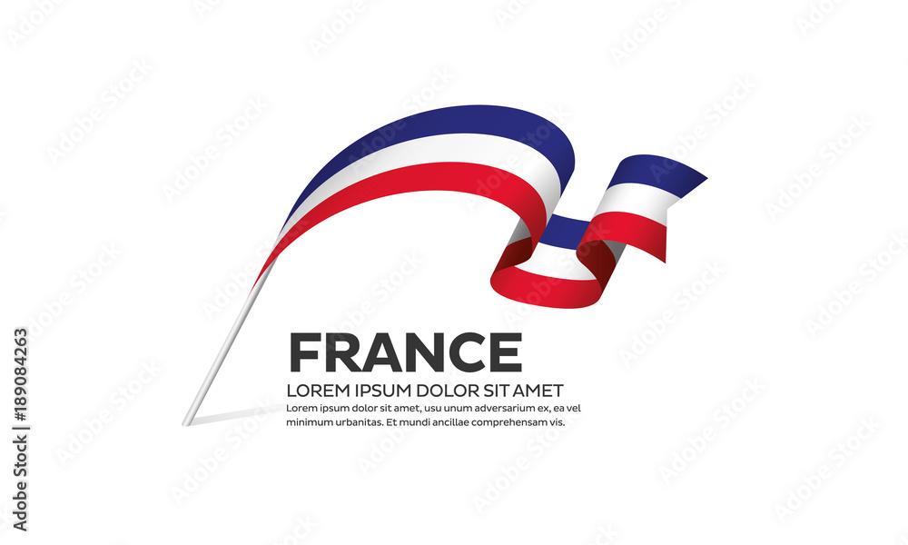 Fototapety, obrazy: France flag background