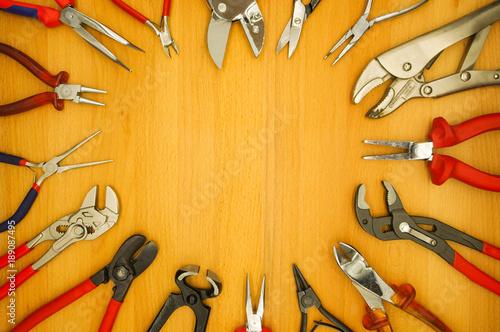 Photo Werkzeug Zange - Schere - Seitenschneider - Kneifzange - Blechschere