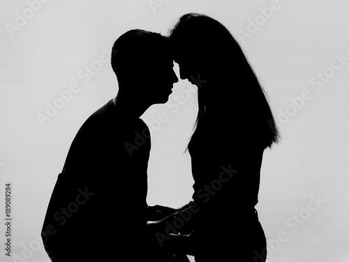 Fotografie, Obraz  Amore in silhouette