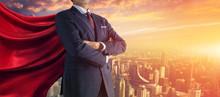 Business Superhero. Mixed Media