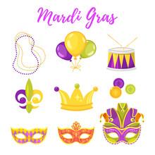 Illustration Of Mardi Gras Sy...