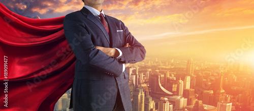 Fotomural Business superhero. Mixed media