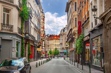 Fototapeta Street in Brussels