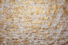 Bricks Wall Painted In White A...