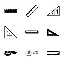 Length Icons. Set Of 9 Editabl...