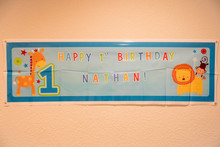Happy Birthday Nathan. Banner ...