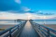canvas print picture - Seebrücke auch Erlebnisseebrücke in Heiligenhafen