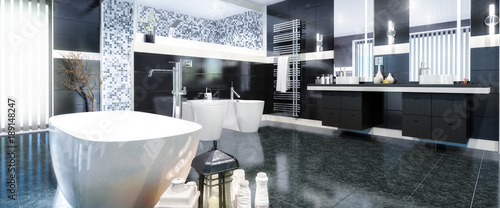 Fotografia  Luxurious Bathroom (panoramic)