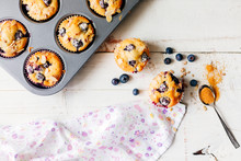 Homemade Blueberry Muffins On ...