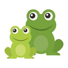 żaba słodkie zwierzę siedzi ilustracja kreskówka wektor