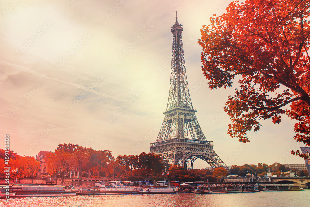 Paris, the Eiffel Tower. Selective focus.