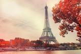 Fototapeta Fototapety Paryż - Paris, the Eiffel Tower. Selective focus.