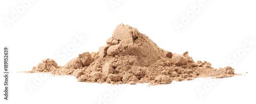 Fotografia  Pile of cocoa protein powder isolated