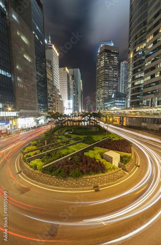Night Traffic in Hong Kong Poster