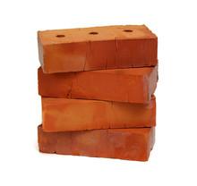 Stack Of Old Red Bricks