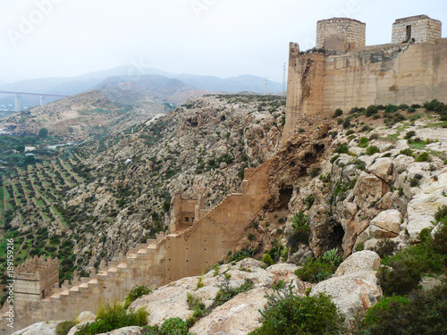 Medieval moorish fortress Alcazaba in Almeria, Andalusia, Spain
