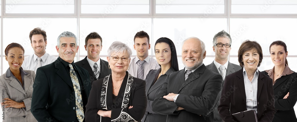 Fototapety, obrazy: Large group of diverse business people