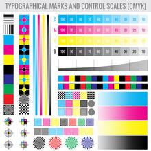 CMYK Press Print Marks And Col...