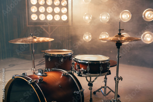 Photo Drum kit, percussion instrument, beat set, nobody