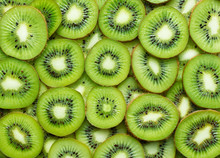 A Lot Of Kiwi Slices As Textur...