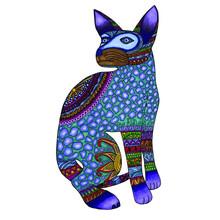 Mexican Alebrije Colorful Cat