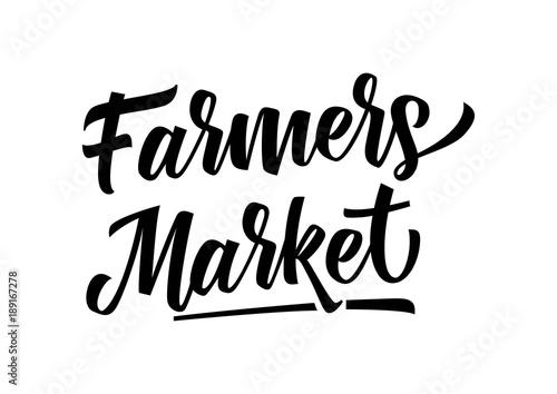 Fotografie, Obraz Farmers Market Lettering