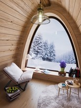 Cozy Small Room On Cold Winter...