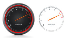 RPM Meters Isolated On White B...