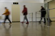 blurred people at the airport