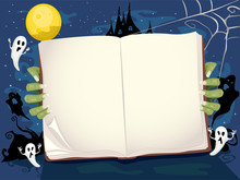 Halloween Book Story Backgroun...
