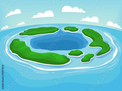 Photo Body Of Land Atoll Illustration