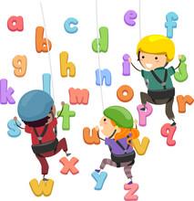 Stickman Kids Alphabet Wall Cl...