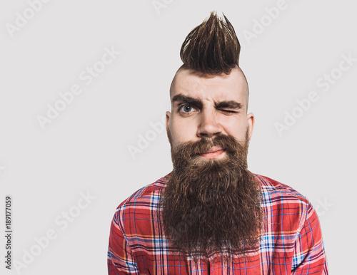 Photo  Young trendy man portrait