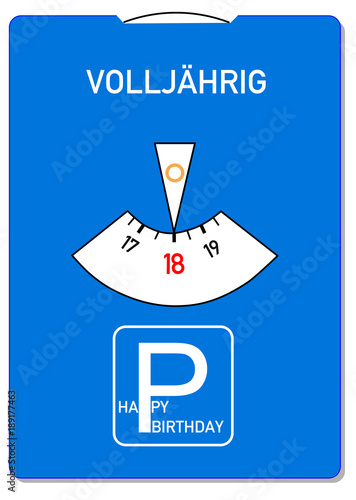Geburtstagskarte Text 18.Geburtstagskarte Zum 18 Geburtstag Buy This Stock