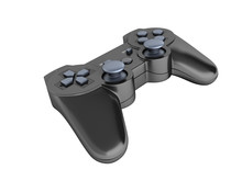 Black Gamepad Without Shadow I...