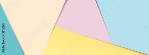 Obraz Pastel paper banner - fototapety do salonu
